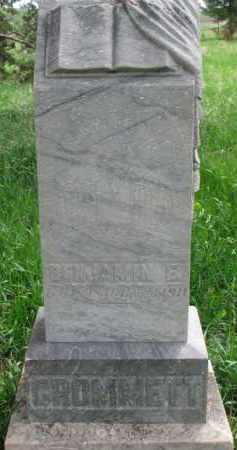 CROMMETT, BENJAMIN E. - Clay County, South Dakota | BENJAMIN E. CROMMETT - South Dakota Gravestone Photos
