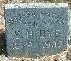 DYE, MELISSA - Clay County, South Dakota | MELISSA DYE - South Dakota Gravestone Photos