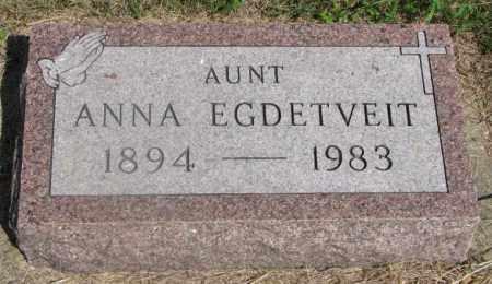 EGDETVEIT, ANNA - Clay County, South Dakota | ANNA EGDETVEIT - South Dakota Gravestone Photos