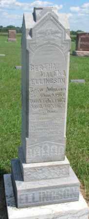 JOHNSON ELLINGSON, BERTHA MALENA - Clay County, South Dakota   BERTHA MALENA JOHNSON ELLINGSON - South Dakota Gravestone Photos