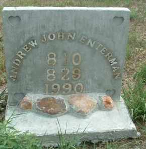 ENTERMAN, ANDREW JOHN - Clay County, South Dakota | ANDREW JOHN ENTERMAN - South Dakota Gravestone Photos