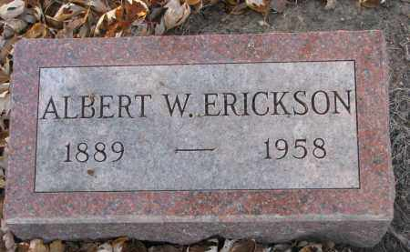 ERICKSON, ALBERT W. - Clay County, South Dakota | ALBERT W. ERICKSON - South Dakota Gravestone Photos
