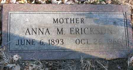 ERICKSON, ANNA M. - Clay County, South Dakota | ANNA M. ERICKSON - South Dakota Gravestone Photos