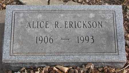 ERICKSON, ALICE R. - Clay County, South Dakota   ALICE R. ERICKSON - South Dakota Gravestone Photos