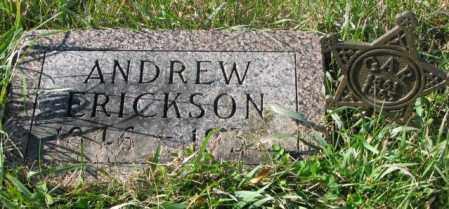 ERICKSON, ANDREW - Clay County, South Dakota | ANDREW ERICKSON - South Dakota Gravestone Photos