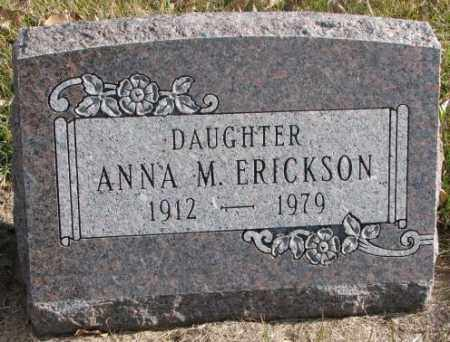 ERICKSON, ANNA M. - Clay County, South Dakota | ANNA M. ERICKSON - South Dakota Gravestone Photos