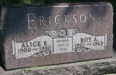 ERICKSON, ROY A. - Clay County, South Dakota | ROY A. ERICKSON - South Dakota Gravestone Photos