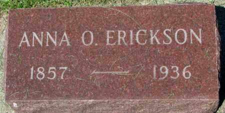 ERICKSON, ANNA O. - Clay County, South Dakota   ANNA O. ERICKSON - South Dakota Gravestone Photos