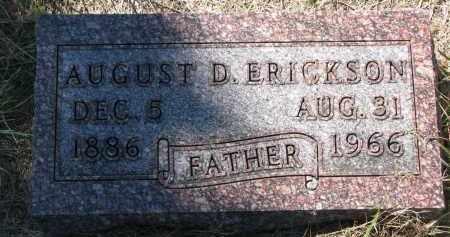 ERICKSON, AUGUST D. - Clay County, South Dakota | AUGUST D. ERICKSON - South Dakota Gravestone Photos
