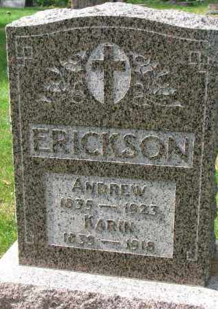 ERICKSON, ANDREW - Clay County, South Dakota | ANDREW ERICKSON - South Dakota Gravestone Photos