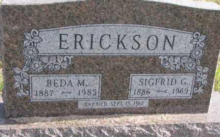 ERICKSON, BEDA M. - Clay County, South Dakota | BEDA M. ERICKSON - South Dakota Gravestone Photos