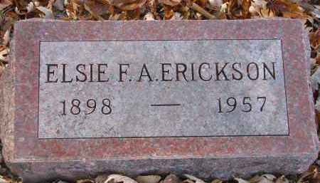 ERICKSON, ELSIE F.A. - Clay County, South Dakota | ELSIE F.A. ERICKSON - South Dakota Gravestone Photos