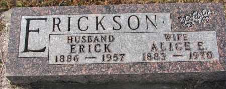 ERICKSON, ALICE E. - Clay County, South Dakota   ALICE E. ERICKSON - South Dakota Gravestone Photos