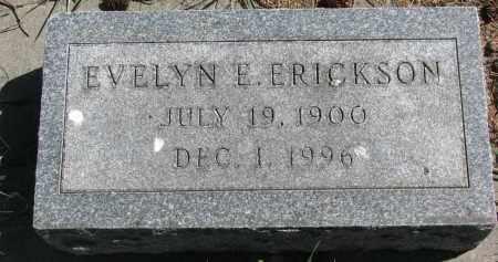 ERICKSON, EVELYN E. - Clay County, South Dakota   EVELYN E. ERICKSON - South Dakota Gravestone Photos