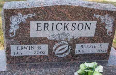 ERICKSON, ERWIN B. - Clay County, South Dakota | ERWIN B. ERICKSON - South Dakota Gravestone Photos
