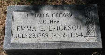 ERICKSON, EMMA E. - Clay County, South Dakota | EMMA E. ERICKSON - South Dakota Gravestone Photos