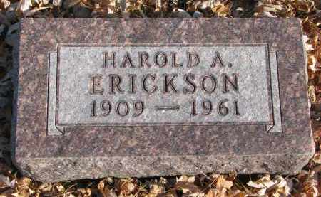 ERICKSON, HAROLD A. - Clay County, South Dakota | HAROLD A. ERICKSON - South Dakota Gravestone Photos