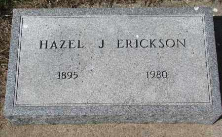 ERICKSON, HAZEL J. - Clay County, South Dakota | HAZEL J. ERICKSON - South Dakota Gravestone Photos