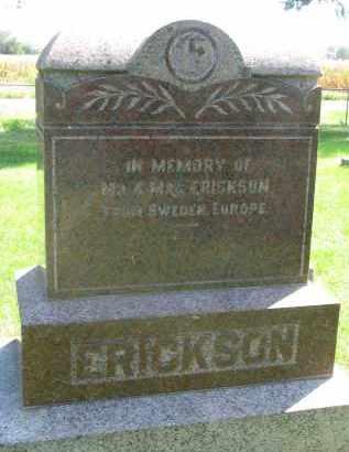 ERICKSON, IN MEMORY OF - Clay County, South Dakota   IN MEMORY OF ERICKSON - South Dakota Gravestone Photos