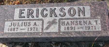 ERICKSON, HANSENA T. - Clay County, South Dakota | HANSENA T. ERICKSON - South Dakota Gravestone Photos