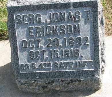 ERICKSON, JONAS T. - Clay County, South Dakota | JONAS T. ERICKSON - South Dakota Gravestone Photos