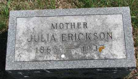 ERICKSON, JULIA - Clay County, South Dakota | JULIA ERICKSON - South Dakota Gravestone Photos