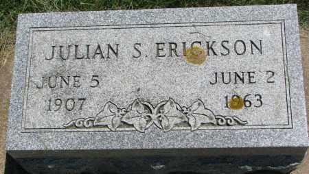 ERICKSON, JULIAN S. - Clay County, South Dakota | JULIAN S. ERICKSON - South Dakota Gravestone Photos