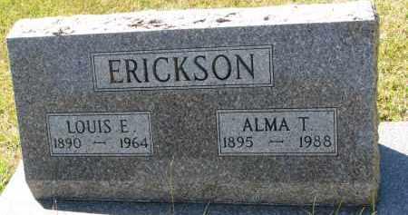 ERICKSON, ALMA T. - Clay County, South Dakota | ALMA T. ERICKSON - South Dakota Gravestone Photos