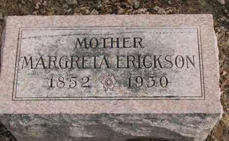 ERICKSON, MARGRETA - Clay County, South Dakota   MARGRETA ERICKSON - South Dakota Gravestone Photos