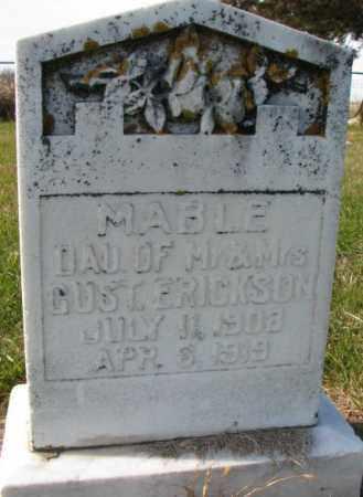 ERICKSON, MABLE - Clay County, South Dakota | MABLE ERICKSON - South Dakota Gravestone Photos