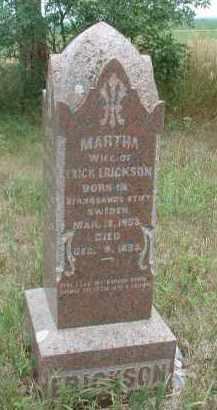ERICKSON, MARTHA - Clay County, South Dakota   MARTHA ERICKSON - South Dakota Gravestone Photos
