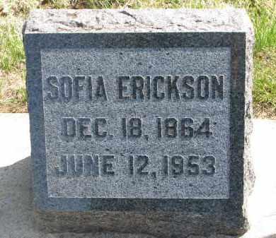 ERICKSON, SOFIA - Clay County, South Dakota | SOFIA ERICKSON - South Dakota Gravestone Photos