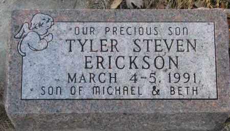 ERICKSON, TYLER STEVEN - Clay County, South Dakota | TYLER STEVEN ERICKSON - South Dakota Gravestone Photos