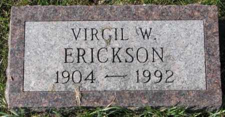 ERICKSON, VIRGIL W. - Clay County, South Dakota | VIRGIL W. ERICKSON - South Dakota Gravestone Photos