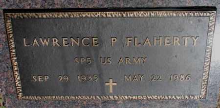 FLAHERTY, LAWRENCE P. - Clay County, South Dakota   LAWRENCE P. FLAHERTY - South Dakota Gravestone Photos