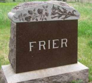 FRIER, FAMILY STONE - Clay County, South Dakota | FAMILY STONE FRIER - South Dakota Gravestone Photos