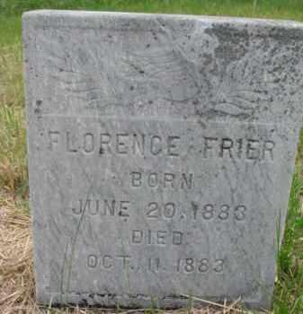 FRIER, FLORENCE - Clay County, South Dakota | FLORENCE FRIER - South Dakota Gravestone Photos