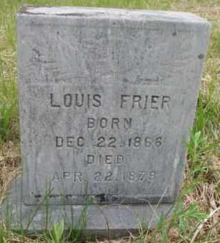 FRIER, LOUIS - Clay County, South Dakota | LOUIS FRIER - South Dakota Gravestone Photos