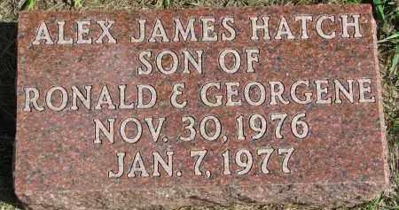 HATCH, ALEX JAMES - Clay County, South Dakota | ALEX JAMES HATCH - South Dakota Gravestone Photos