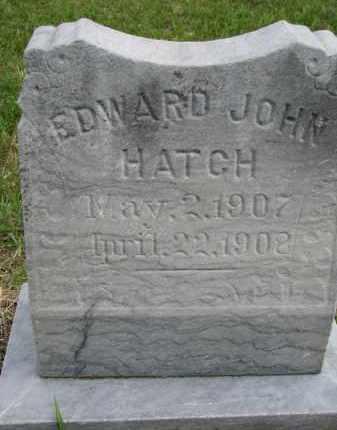 HATCH, EDWARD JOHN - Clay County, South Dakota   EDWARD JOHN HATCH - South Dakota Gravestone Photos