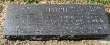 BUTLER HATCH, ABIGAL P. - Clay County, South Dakota | ABIGAL P. BUTLER HATCH - South Dakota Gravestone Photos