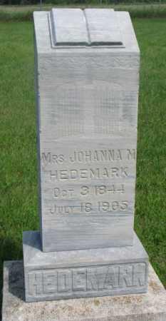 HEDEMARK, JOHANNA - Clay County, South Dakota | JOHANNA HEDEMARK - South Dakota Gravestone Photos