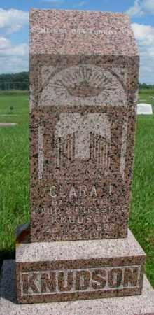 KNUDSON, CLARA I. - Clay County, South Dakota   CLARA I. KNUDSON - South Dakota Gravestone Photos