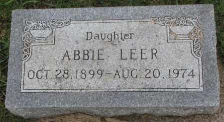 LEER, ABBIE - Clay County, South Dakota | ABBIE LEER - South Dakota Gravestone Photos