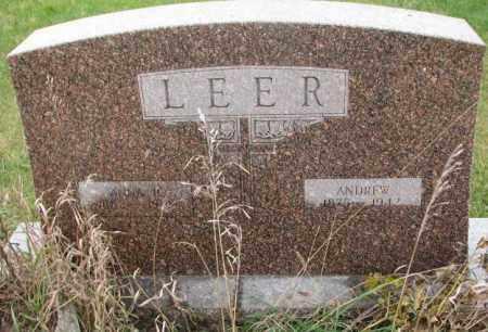 LEER, ANNA R. - Clay County, South Dakota | ANNA R. LEER - South Dakota Gravestone Photos