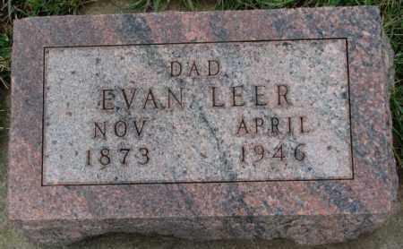 LEER, EVAN - Clay County, South Dakota | EVAN LEER - South Dakota Gravestone Photos