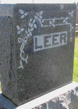 LEER, FAMILY STONE - Clay County, South Dakota | FAMILY STONE LEER - South Dakota Gravestone Photos