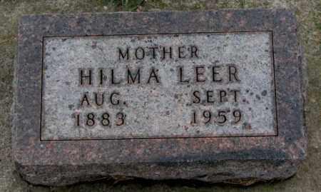 LEER, HILMA - Clay County, South Dakota | HILMA LEER - South Dakota Gravestone Photos