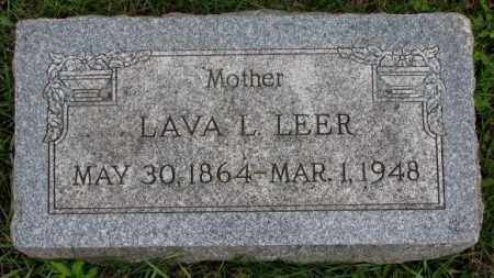 LEER, LAVA L. - Clay County, South Dakota | LAVA L. LEER - South Dakota Gravestone Photos
