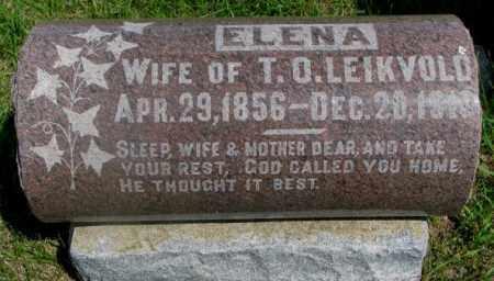 LEIKVOLD, ELENA - Clay County, South Dakota   ELENA LEIKVOLD - South Dakota Gravestone Photos